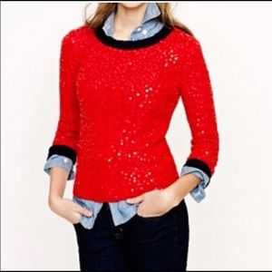 J Crew sequined 3/4 Sleeve